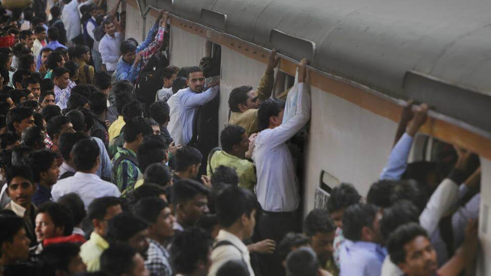 crowded local train
